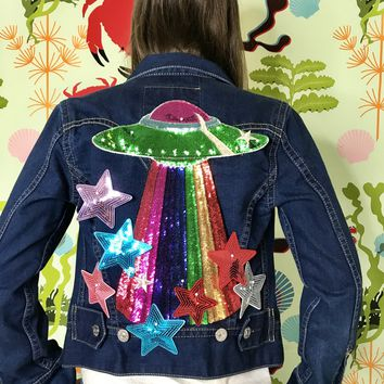 New Vintage Planets and Stars Denim