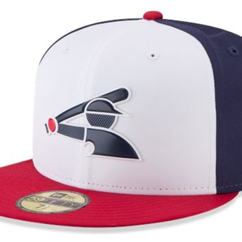 Mens Chicago White Sox New Era White/Navy/Red MLB18 Authentic Collection Prolight Alternate 59FIFTY Fitted Hat