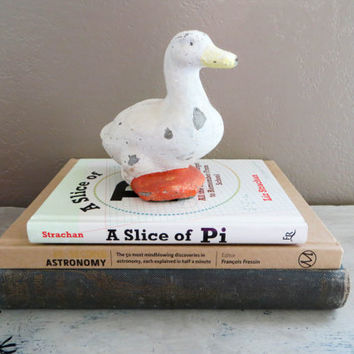 Shabby Chic Duck Rustic Duck Concrete Duck Rustic Home Decor Shabby Decor Garden Animals Garden Decor Vintage Duck Stone Duck