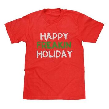 Happy Freakin Holiday Shirt Red Available in Adult & Youth Sizes