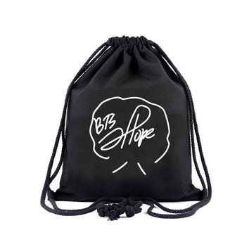 KPOP BTS Bangtan Boys Army  home  forboys with signature trendy  youngster simple fasion school shopping canvas bag backpack with drawstring AT_89_10
