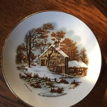 Currier & Ives Old Homestead In Winter Collector'S Plate (1978)