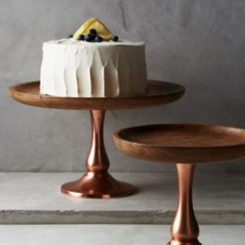Timber & Ore Cake Stand by Anthropologie in Copper Size: