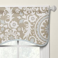 Taupe Suzani Window Treatments