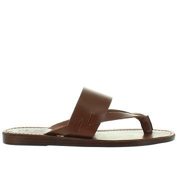 Seychelles Mosaic - Dark Brown Leather Thong Slide Sandal