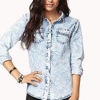 Static Acid Wash Denim Shirt