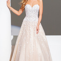 A-line Strapless Tony Bowls Gown