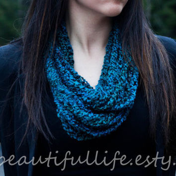 """Crochet Infinity Chain Scarf - """"Taylor"""" - Featured at All Blinged Out Cowgirls"""