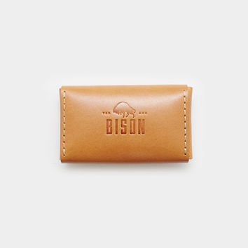 Bison Business Card Case - Golden Tan