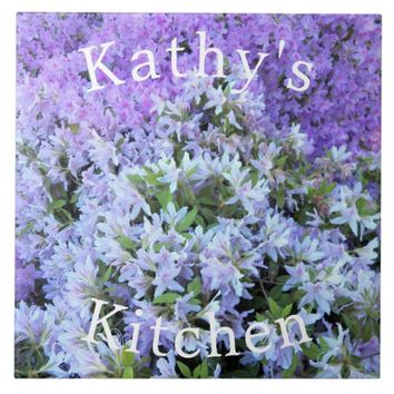 Rhododendron Bouquet Personalized Floral Tile