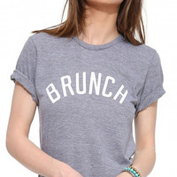 Gray Brunch Roll-up Shirt