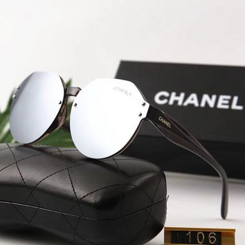 "Hot Sale ""Chanel"" Popular Personality Summer Style Sun Shades Eyeglasses Glasses Sunglasses I12573-1"