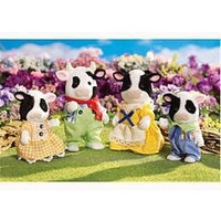 Calico Critters Friesian Cow Family