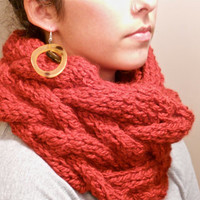 Chunky Cableknit Infinity Scarf