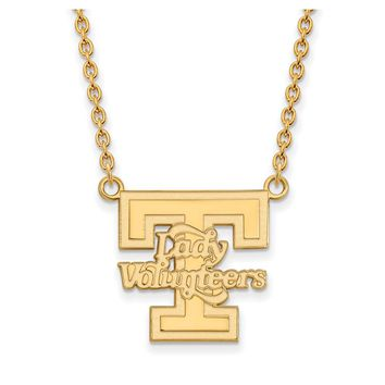 NCAA 14k Gold Plated Silver U of Tennessee Lady Volunteers Necklace