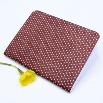 Rustic Red Polka Dot Texture Traveler's Notebook Journal Stationary Planner Insert Blank Pages Sketchbook