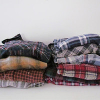 Mystery Flannel - Flannel or Plaid Shirt, Vintage, Thrifted, Oversized, Grunge