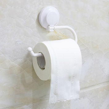 Plastic Suction up Paper Towel Holder for Kitchen Toilet Roll Bathroom Wall Mount Toilet Accessories Toilet Paper Holder