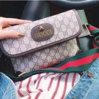 Gucci cute khaki shoulder baghandbag