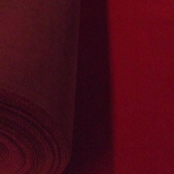 Discount Cherry Red Flocked Velvet Fabric for Upholstery Craft Curtain Drapery Material Sold Per Yard   Burgundy Fabric by the Yard   Flock