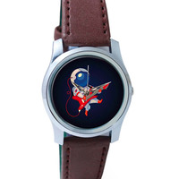 Astronaut Playing Guitar Wrist Watch