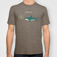 Sharkasm T-shirt by Teo Zirinis