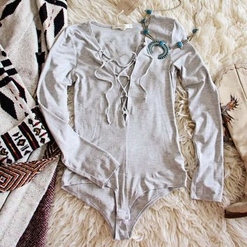 Dixon Cozy Bodysuit in Gray