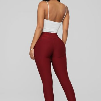 a252df44268 Not Your Average Booty Lifting Leggings - Burgundy