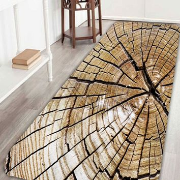 Broken Plank Soft Absorption Bathroom Floor Rug