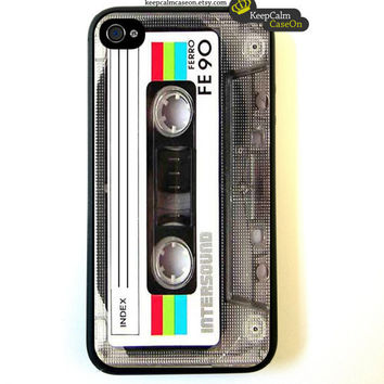 Iphone 4 Case Retro Mixtape iphone 4 Case by KeepCalmCaseOn