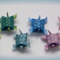 24 Origami Army of Paper Turtles Multicolored by PullingPetals