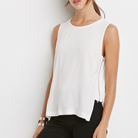 Crepe Zippered-Side Top