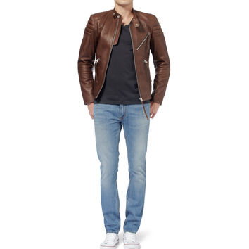 Acne Studios - Oliver Slim-Fit Leather Biker Jacket | MR PORTER