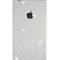 SILVER GLITTER IPHONE STICKER