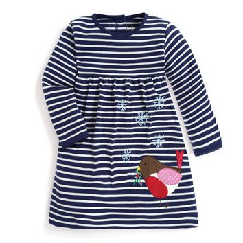 Princess Unicorns Kids Baby Girls Dress Cotton autumn spring clothing Cute Long Sleeve Casual jersey  Party Casual Dresses Girl