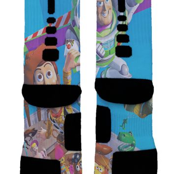 Toy Story Buzz Lightyear Custom Nike Elite Socks