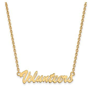 NCAA 14k Gold Plated Silver U of Tennessee Medium Pendant Necklace