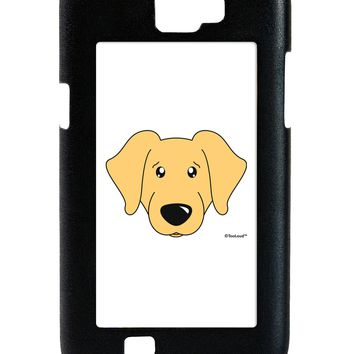 Cute Golden Retriever Dog Galaxy Note 2 Case  by TooLoud