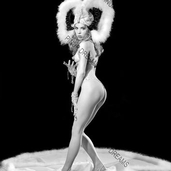 "Vintage Art Photograph of Burlesque Stripper Chelsea O'hara  8"" x 10"" re-print (Get Any 4 for 3)"