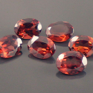 Garnet: 8.54twt Red Oval Shape Gemstone Parcel, 6 Natural Hand Made Faceted Gems, Loose Precious Mineral, OOAK Crystal Jewelry Supply 20130