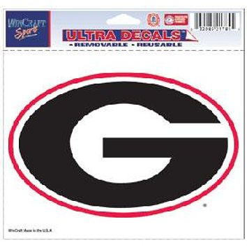 Georgia Bulldogs Decal 5x6 Ultra Color