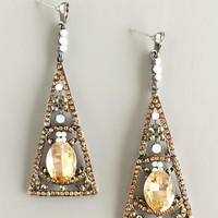 Glimmering Midnight Crystal Earrings