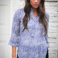 CERULEAN SWIRL TOP | Pretty Edgy