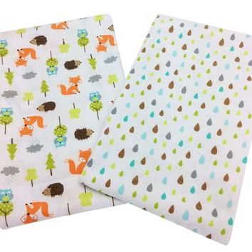 "2 pcs/pack sheets baby 28""×52"" 140 x 70cm 100% cotton newborn Baby bed sheet Fox hedgehog printing crib sheet baby bedding set"