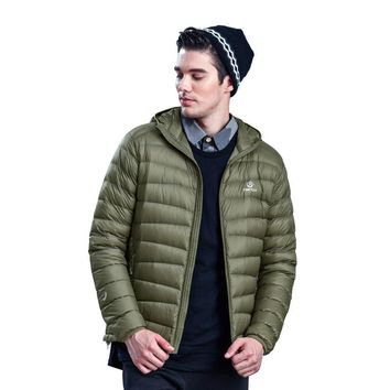 New Winter Warm Ultra-light Puffer Duck Down Jacket Men Windstopper Water Resistant Coat Outdoors Thermal Jaqueta Masculina