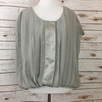 Pre-owned Gap Cropped Blouse Gap Shirt (Size L)