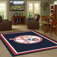 New York Yankees MLB Team Logo Rug