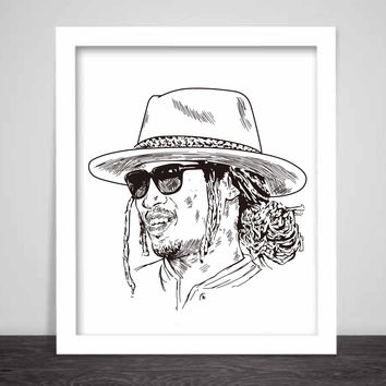 Future Hendrix Art Poster (6 sizes) // Freebandz DS2 esco metroboomin what a time to be alive Dirty Sprite rapper