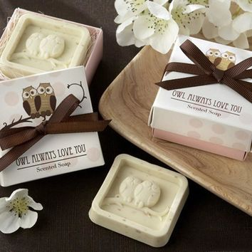 Handmade Owl Design Bath Soap Wedding Valentine Party Love Gift Owl Soap