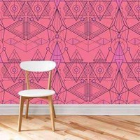 Linea Wallpaper - Pink